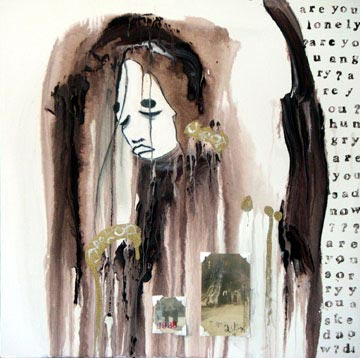 Butoh Gold Brown Woman Lost Anon Jpg