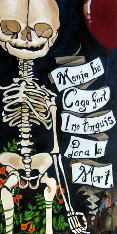 Catalan Prayer Baby Skeleton Menja Be Balloon Jpg
