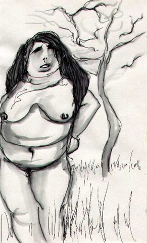 Drawing Fat Nude Woman Jpg