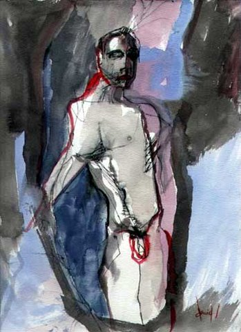 Nude Abstract Male Watercolor Sweeney Jpg