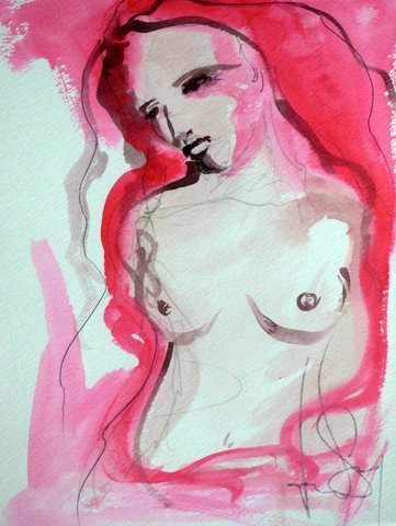 Nude Red Woman Wash Jpg
